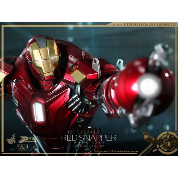 Hot Toys Homem de Ferro Mark XXXV Red Snapper Power Pose Series  - Movie Freaks Collectibles