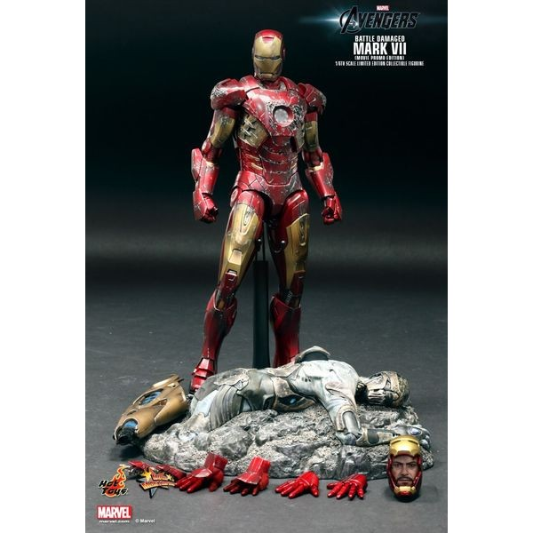 Hot Toys Homem de Ferro Mark VII Battle Damaged Movie Promo Edition- Os Vingadores  - Movie Freaks Collectibles