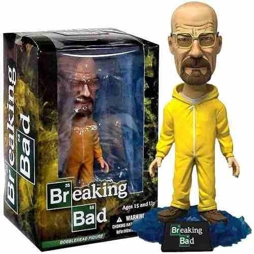 Mezco Breaking Bad Walter White in Yellow Hazmat Suit BobbleHead  - Movie Freaks Collectibles