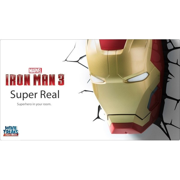 Homem De Ferro Iron Man 3 Mask Luminária LED - 3D Deco Light - Movie Freaks Collectibles