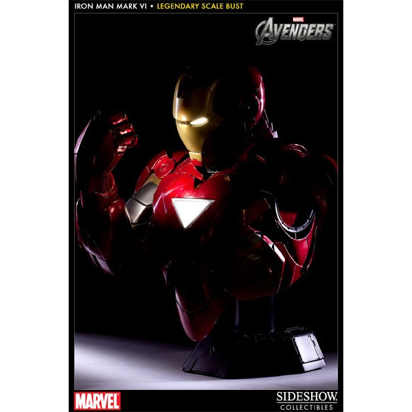 Sideshow Collectibles Homem de Ferro Mark VI Legendary Scale? Bust  - Movie Freaks Collectibles