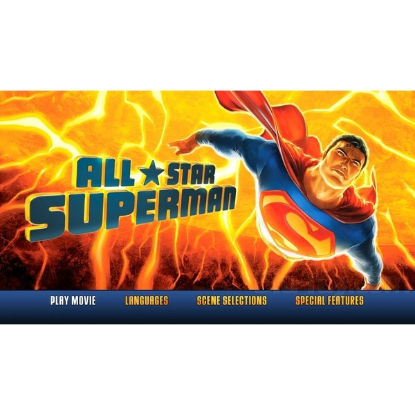 All Star Superman - Super Homem Blu-ray Limited Edition com Litho Cel - Movie Freaks Collectibles