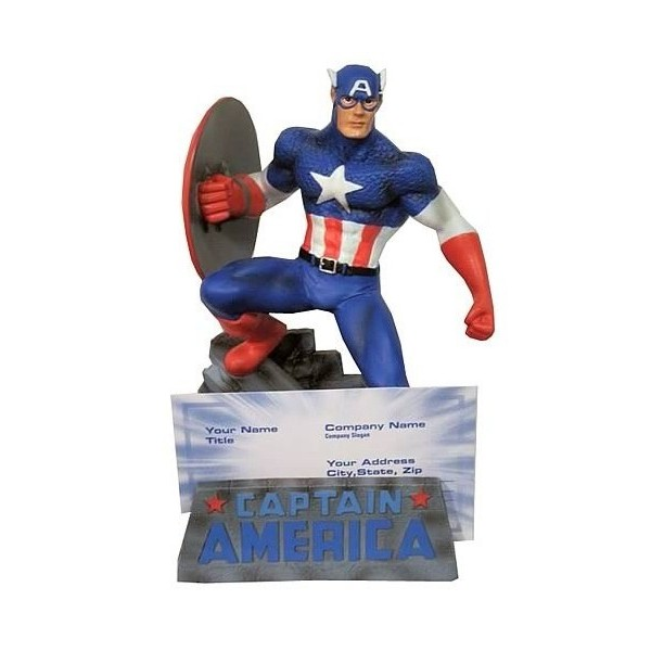 Monogram Marvel Capitão América Porta cartão de visita em resina  - Movie Freaks Collectibles