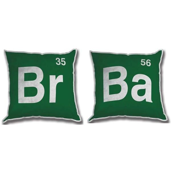 Mezco Almofadas Breaking Bad 30cmx30cm Plush Pillow - Jogo de 2 (BR & BA)  - Movie Freaks Collectibles