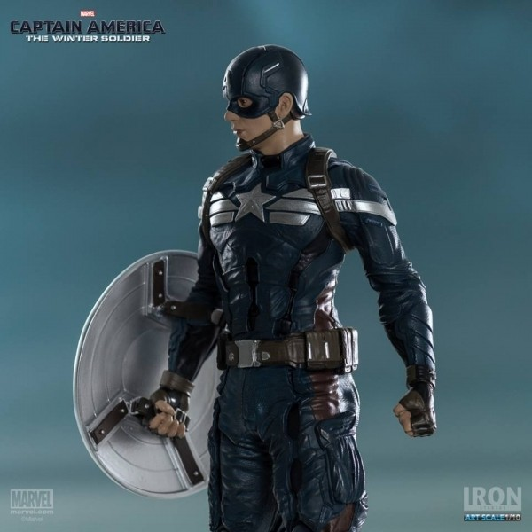 Iron Studios Capitão América Art Scale 1/10 The Winter Soldier  - Movie Freaks Collectibles