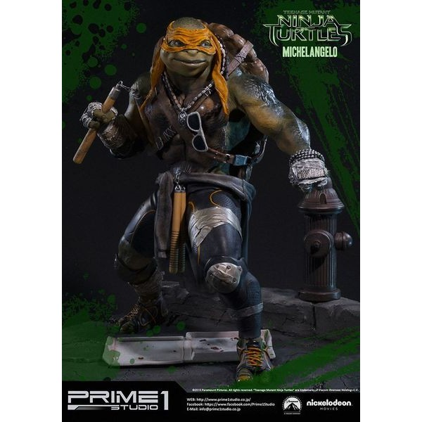 Sideshow Collectibles - Prime 1 TMNT Michelangelo Polystone Statue  - Movie Freaks Collectibles