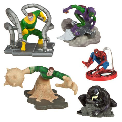 Disney Store Homem Aranha e inimigos Figure Play Set  - Movie Freaks Collectibles
