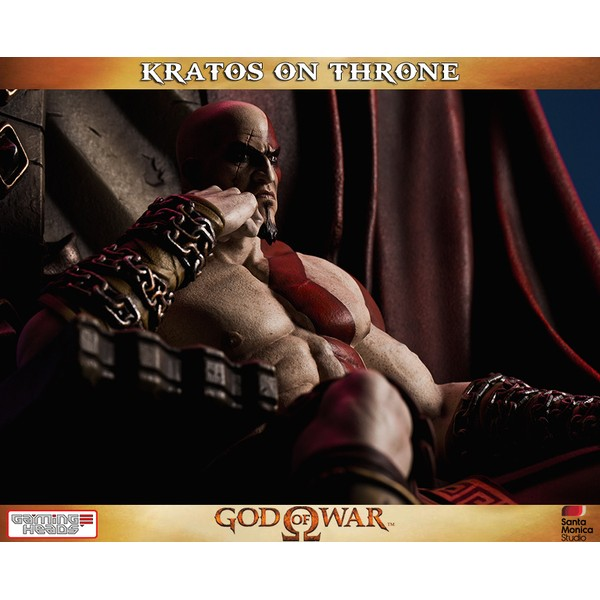 (PRÉ-VENDA /10%) Gaming Heads Kratos on Throne  - Movie Freaks Collectibles