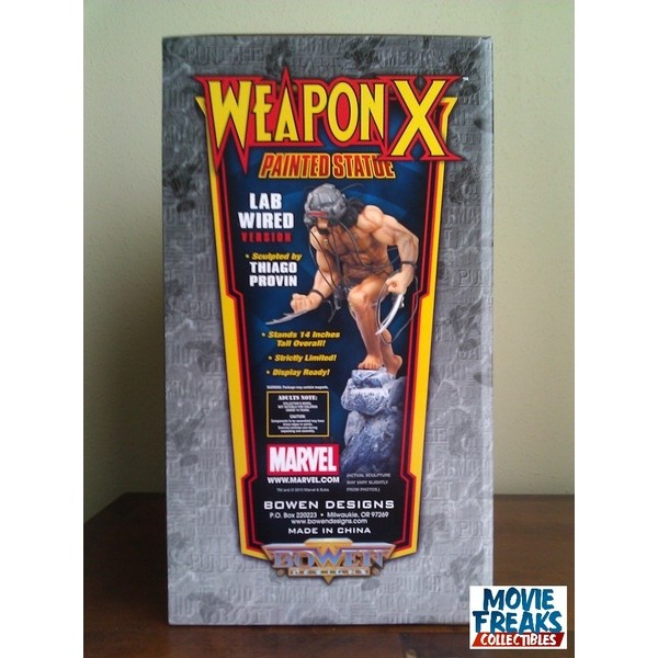 Bowen Designs Wolverine Arma X - Weapon X Lab Wired Statue  - Movie Freaks Collectibles