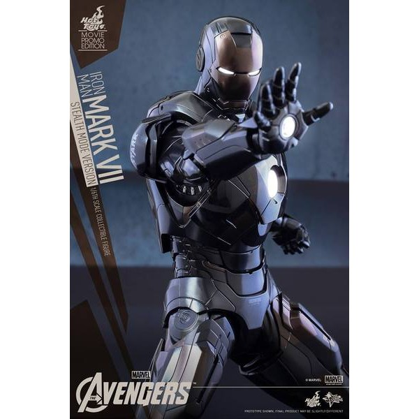 Hot Toys Homem de Ferro Mark VII (Stealth Mode Version) Movie Promo Exclusive Sideshow  - Movie Freaks Collectibles
