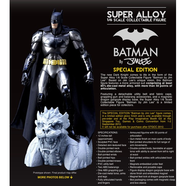 Play Imaginative Super Alloy 1/6 Batman By Jim Lee Special Edition  - Movie Freaks Collectibles