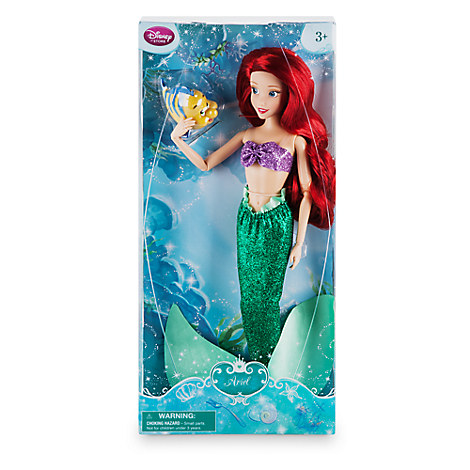 Disney Store Boneca Pequena Sereia Ariel com Linguado 16/17  - Movie Freaks Collectibles