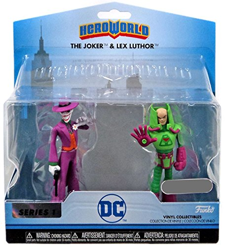 Funko Heroworld: Justice League Villains 2pk Lex Luthor e Coringa - Liga da Justiça Vilões  - Movie Freaks Collectibles