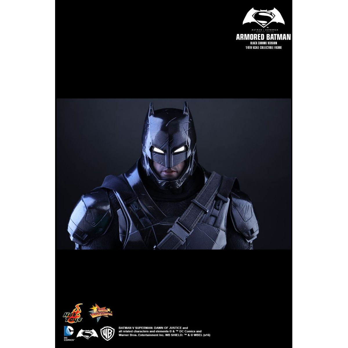 Hot Toys Armored Batman Black Chrome Exclusivo Comic Con XP 2016  - Movie Freaks Collectibles