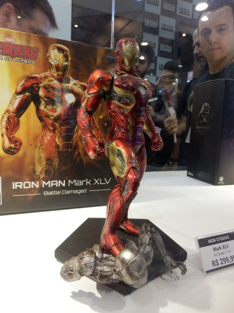 Iron Studios Homem de Ferro Mark XLV Battle Damaged CCXP EXclusive  - Movie Freaks Collectibles