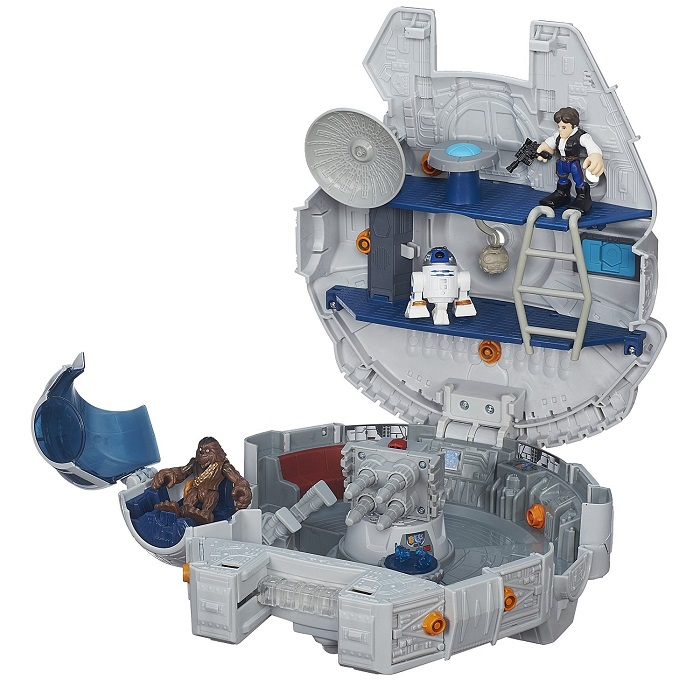 Playskool Heroes Star Wars Galactic Heroes Millennium Falcon - Movie Freaks Collectibles