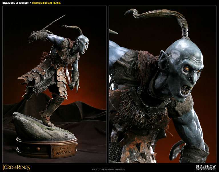 Sideshow Black Orc Scout Premium Format   - Movie Freaks Collectibles