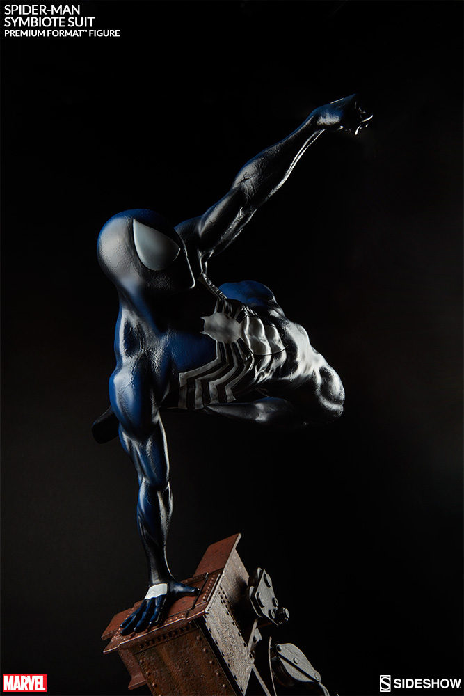 Sideshow Homem Aranha Black  'Symbiote Costume' Premium Format  - Movie Freaks Collectibles