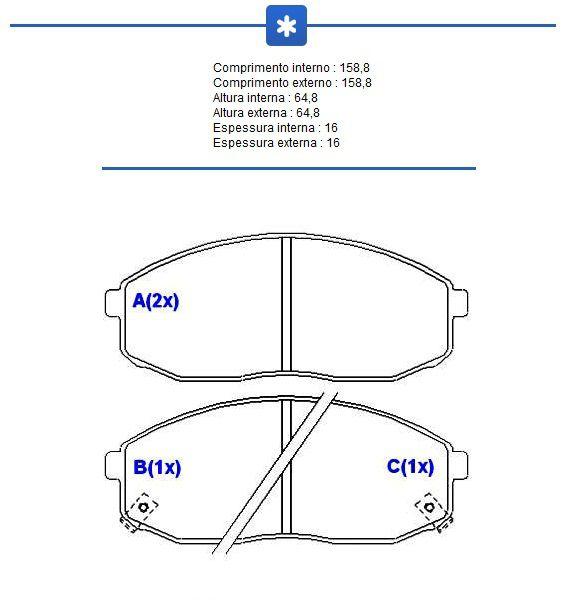 pastilha de freio dianteira besta gs grand 3 0 - syl 1273