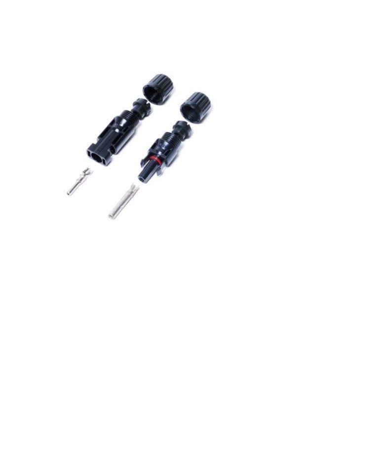50 Unidades - Conector MC4 - Par