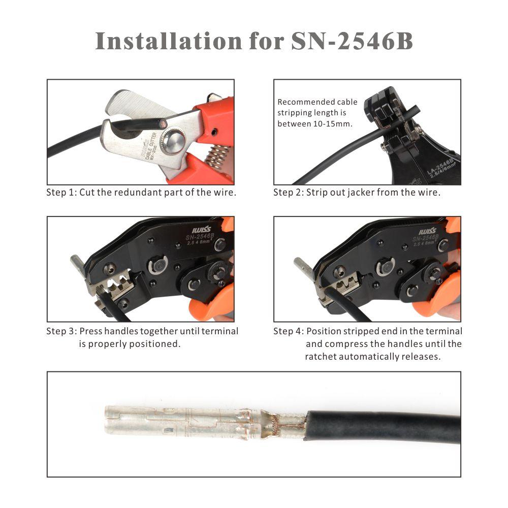 IWISS SN-2546B - Kit Ferramentas para Crimpar Conectores Solares MC4