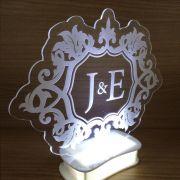 Topo de bolo iluminado com Led - Brasão (M09)
