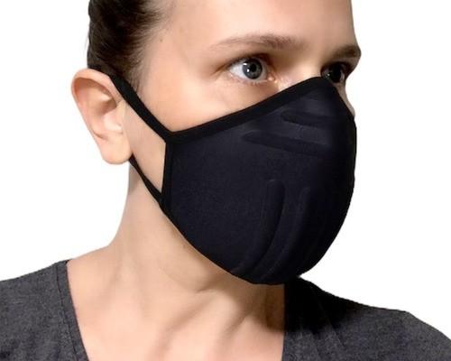 2 Máscaras De Proteção P/ Corrida - Lavável Anatômica