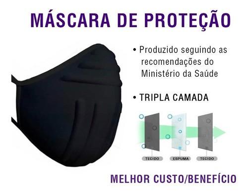 Kit 2 Máscaras P - Rostos Pequenos Finos Lavável Anatômica
