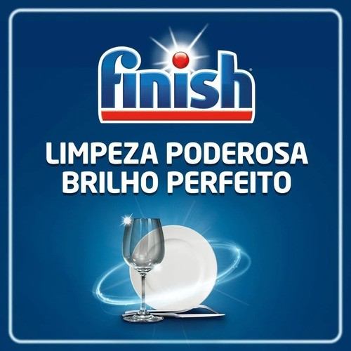 Kit Finish Lava Louça 2 Detergentes Powerball + 1 Secante