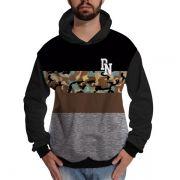 Blusa de Moletom Camisa Militar StreetWear Camuflada Cinza