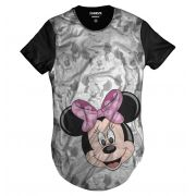 Camisa Longa Minnie Mouse Rostinhos OF Whitte Disney