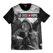 Camisa Série La Casa de Papel Máscara Salvador Dali