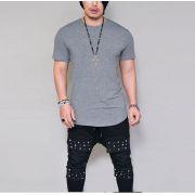 Camiseta Longline Lisa Oversized Basic