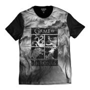 Camiseta Brasões Reinos Game of Thrones GOT