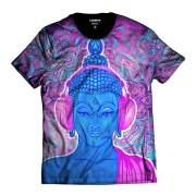 Camiseta Psicodélico Buda DJ Efeito Alucinógeno