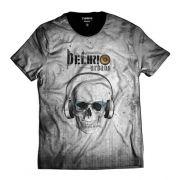 Camiseta Delírio Urbano Cinza Skull Rap