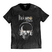 Camiseta Delírio Urbano Skull Preta Hip Hop