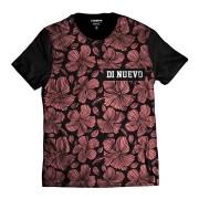 Camiseta Floral Papoula Rosa Estilo Verão