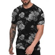 Camiseta Florida Preta Off White Black Floral