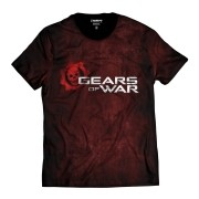 Camiseta Gears of  War Blood Caveira Vermelha