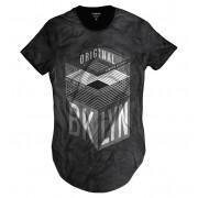 Camiseta Longline Brooklyn New York Ilimitada Original Triangular