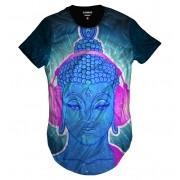 Camiseta Longline Buda Music Psicodélico Dj