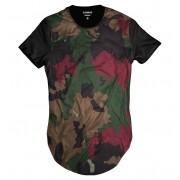 Camiseta Longline Exército Camuflada Masculina