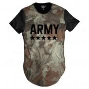 Camiseta Longline Camuflada Neutra Army Swag Exército