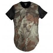 Camiseta Longline Bege Camuflada Exército Exclusiva