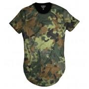 Camiseta Longline Exército Verde CamufladaThug Life
