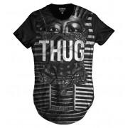 Camiseta Longline Egito Faraó Thug Life Swag Esfinge