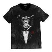 Camiseta Macaco de Terno Estiloso