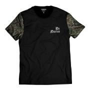 Camiseta Manga Camuflada Verde e Marrom Di Nuevo DN Street Wear