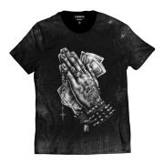 Camiseta Mão Orando Blessed Rock